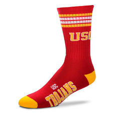 USC Trojans 4-Stripe Deuce Socks - Los Angeles Source