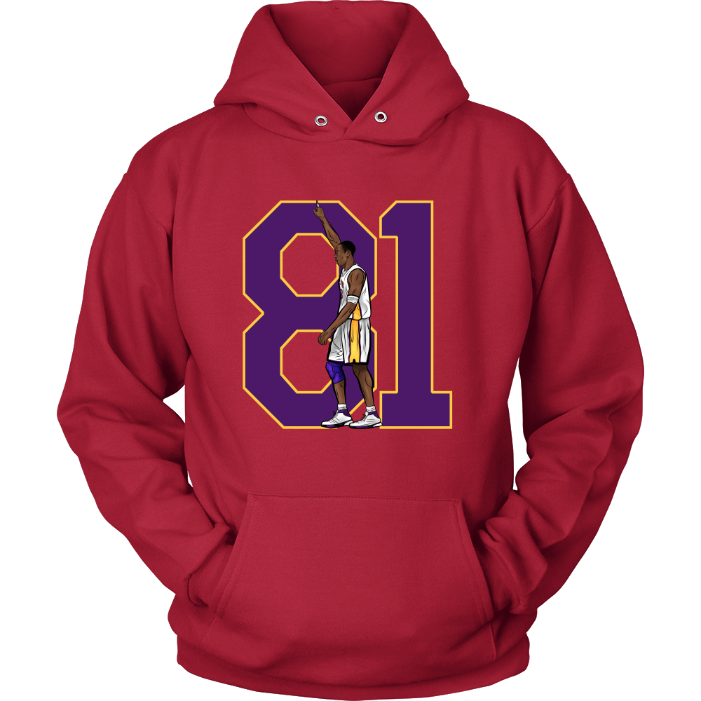 "Kobe Bryant ""81"" Hoodie - Los Angeles Source  - 7"