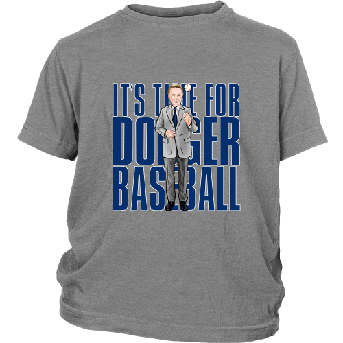 "Vin Scully ""Its Time For Dodger Baseball"" Youth Shirt - Los Angeles Source  - 1"