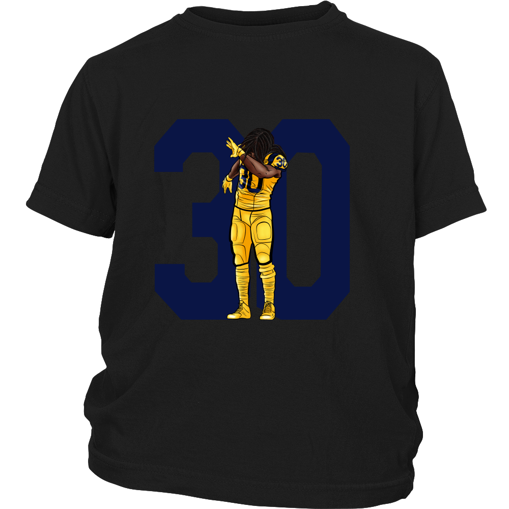 "Todd Gurley ""Dab On Em'"" Youth Shirt - Los Angeles Source  - 4"