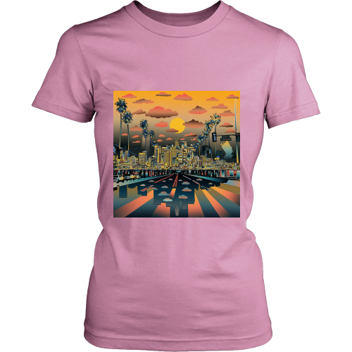 "Los Angeles ""Vibe"" Women's Shirt - Los Angeles Source  - 4"