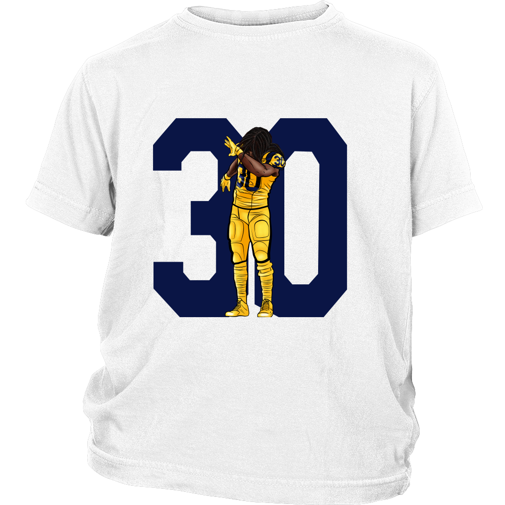 "Todd Gurley ""Dab On Em'"" Youth Shirt - Los Angeles Source  - 1"