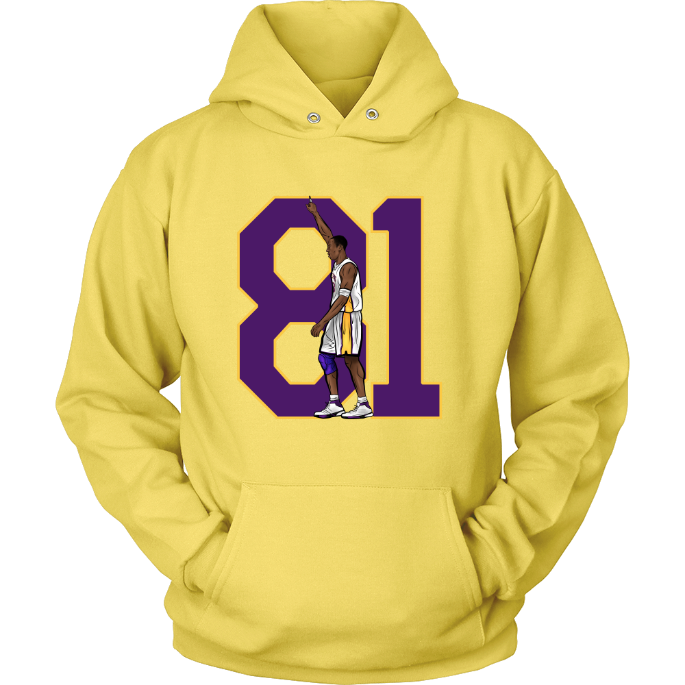 "Kobe Bryant ""81"" Hoodie - Los Angeles Source  - 9"