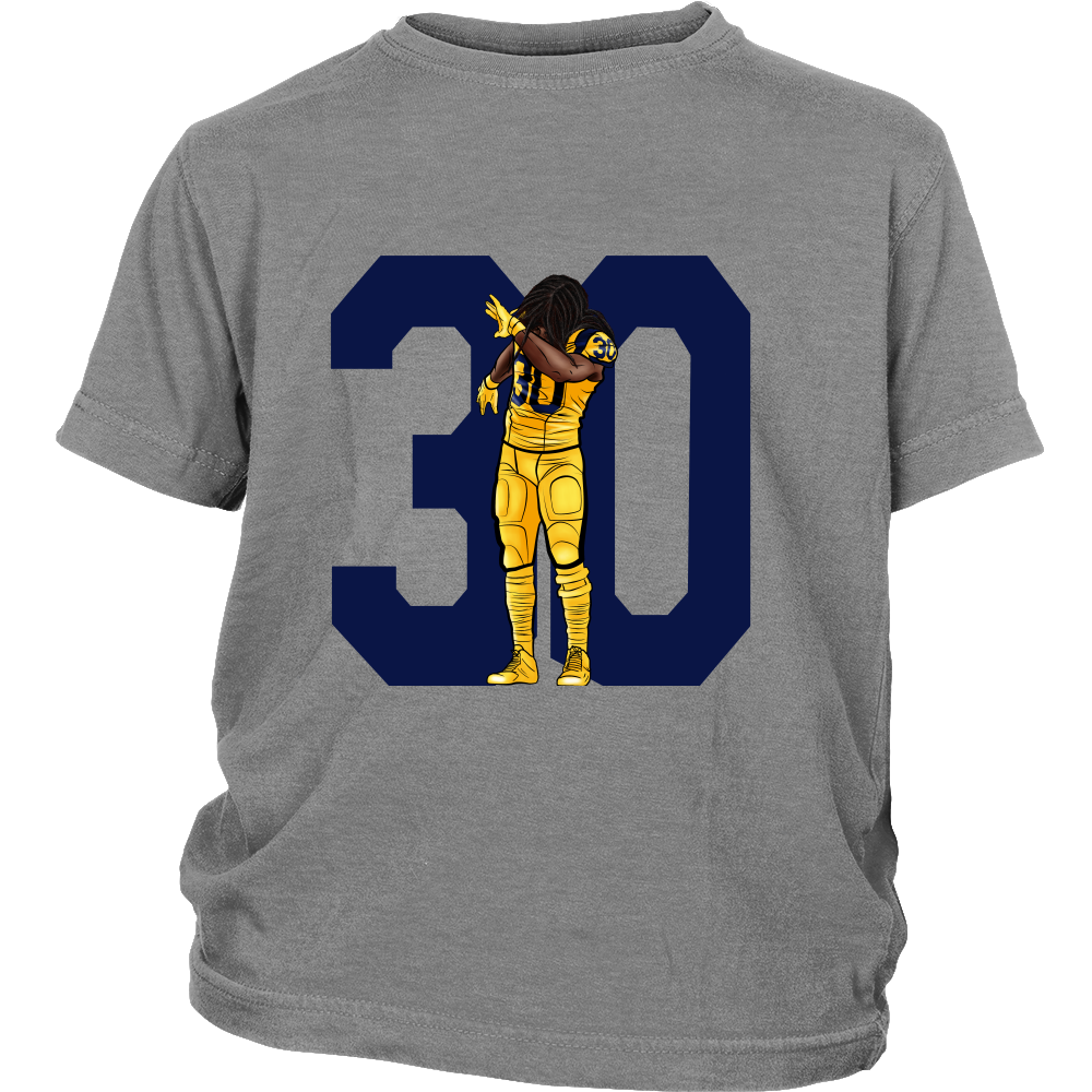"Todd Gurley ""Dab On Em'"" Youth Shirt - Los Angeles Source  - 5"