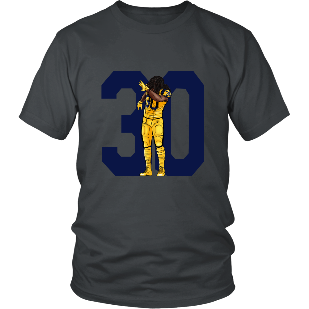 "Todd Gurley ""Dab On Em'"" Shirt - Los Angeles Source  - 4"