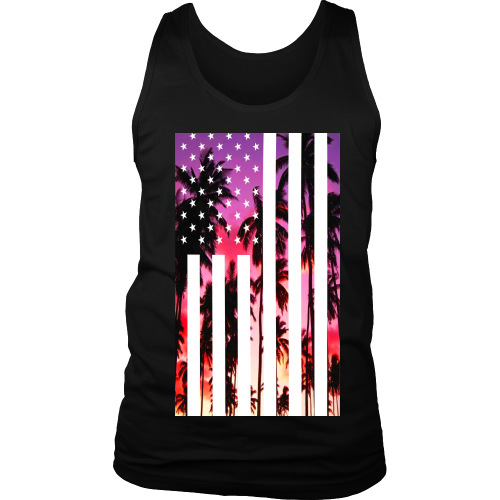 "Los Angeles ""Palm Tree U.S.A."" Tank Top - Los Angeles Source  - 3"