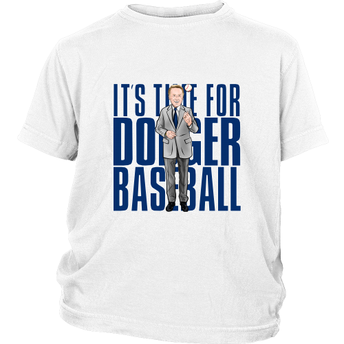 "Vin Scully ""Its Time For Dodger Baseball"" Youth Shirt - Los Angeles Source  - 2"