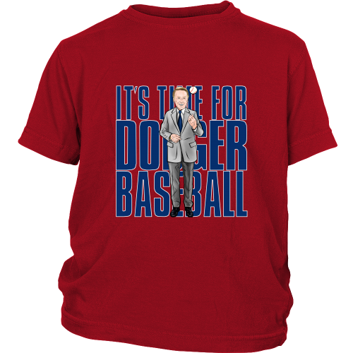 "Vin Scully ""Its Time For Dodger Baseball"" Youth Shirt - Los Angeles Source  - 4"