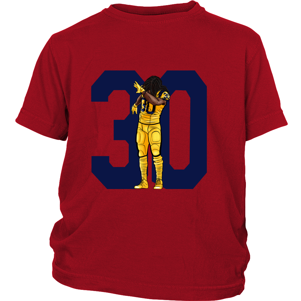 "Todd Gurley ""Dab On Em'"" Youth Shirt - Los Angeles Source  - 3"