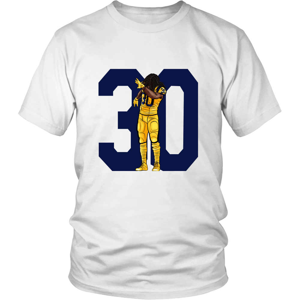 "Todd Gurley ""Dab On Em'"" Shirt - Los Angeles Source  - 3"