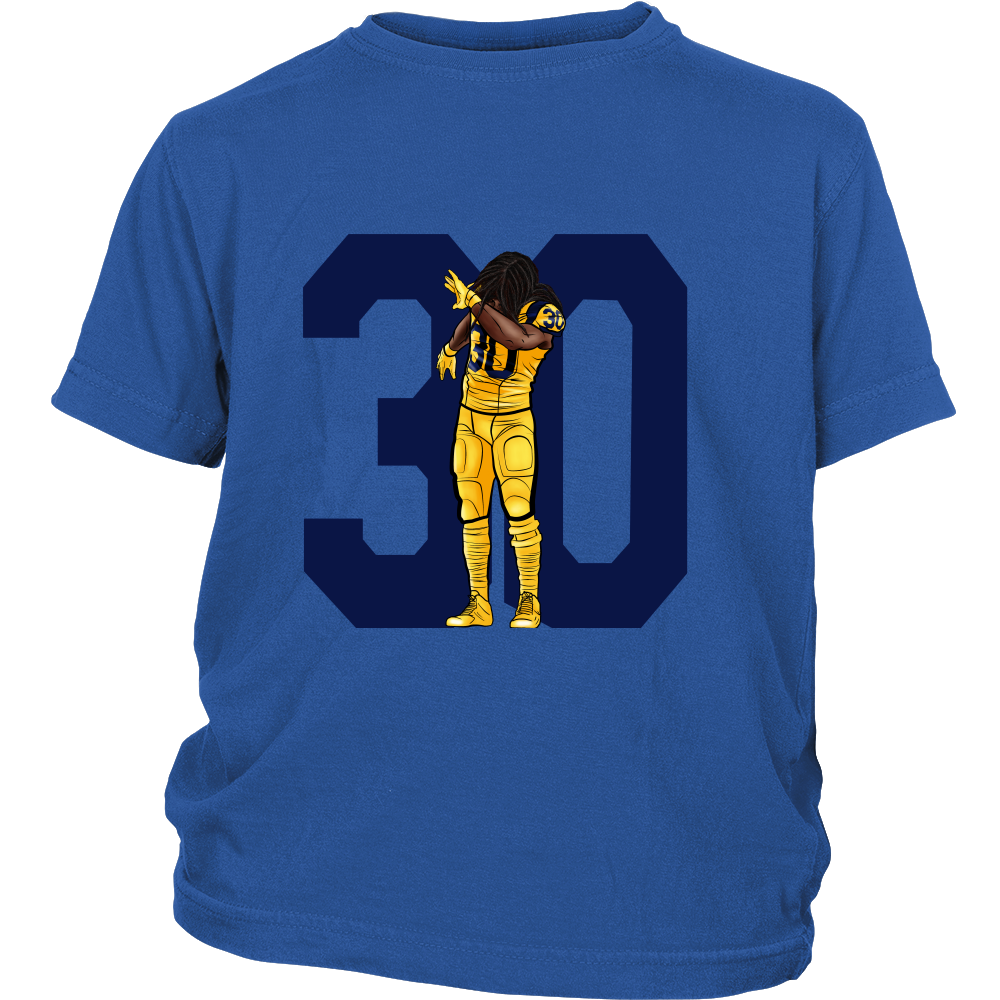 "Todd Gurley ""Dab On Em'"" Youth Shirt - Los Angeles Source  - 2"