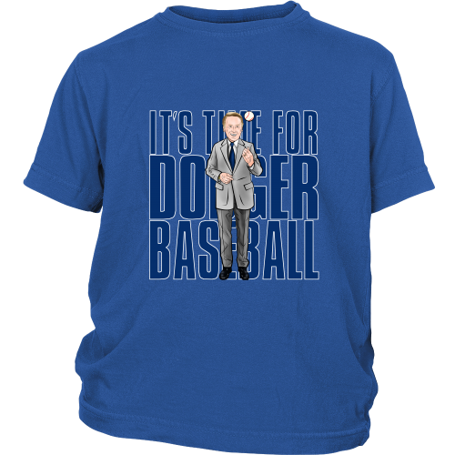 "Vin Scully ""Its Time For Dodger Baseball"" Youth Shirt - Los Angeles Source  - 3"