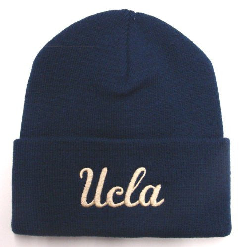 "UCLA Bruins ""Gold Script"" Pom Beanie - Navy - Los Angeles Source"