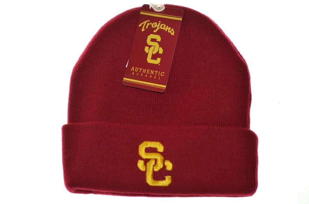 "USC Trojans ""Cardinal Cuffed"" Knit Beanie - Los Angeles Source  - 2"