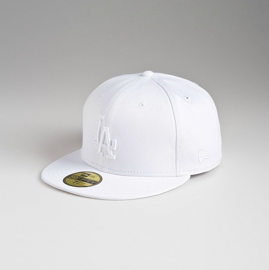 "Dodgers ""White on White"" Fitted Hat - Los Angeles Source  - 2"