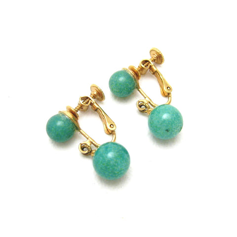 vintage jade drop earrings