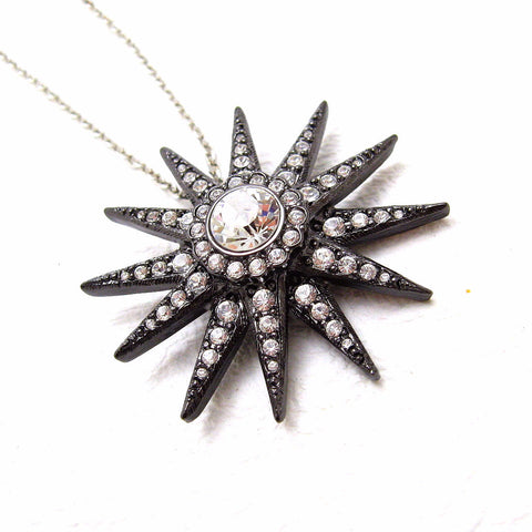 KJL rhinestone pendant necklace