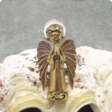 Vintage Angel Brooch Signed Art Christmas Jewelry P5248