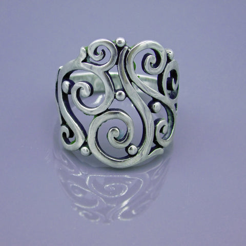 Open Sorrento Sterling James Avery Ring Size 9