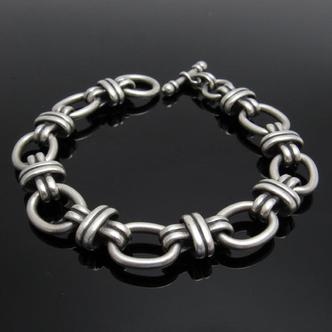 James Avery Sterling Bracelet Couplet Link Toggle Bracelet
