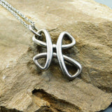 James Avery Sterling Cross Eternal Ribbon Necklace