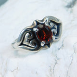 James Avery Sterling Scroll Heart Ring