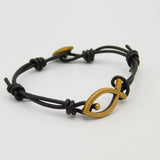 James Avery Bronze Fish Leather Bracelet