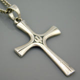 Descending Dove Sterling Cross Necklace James Avery