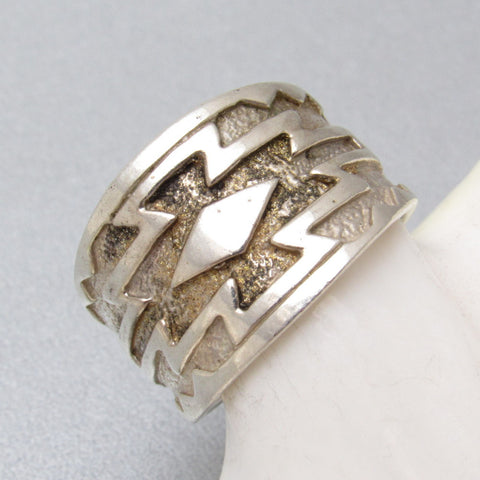 Sterling Southwestern Ring Band Silvermith Inc