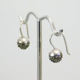 Sterling Marcasite Bead Earrings