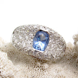 Sterling Pave Band Ring Periwinkle CZ Jewelry