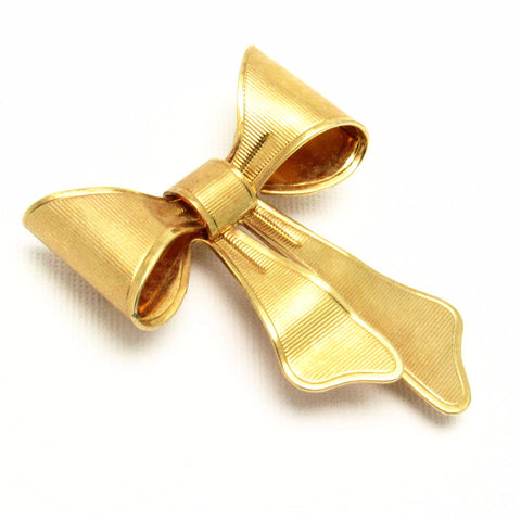 Vintage Bow Brooch Scarf Clip Avon Jewelry