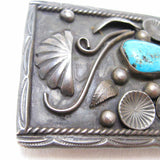 Begay sterling turquoise Navajo buckle 4