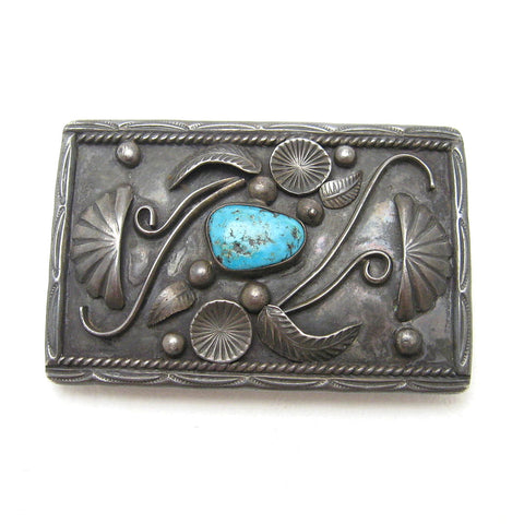 Begay sterling turquoise Navajo buckle 3