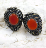 Sterling Carnelian Earrings