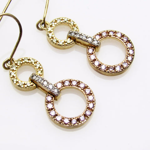 Sterling Circles Earrings Colorful Jewelry
