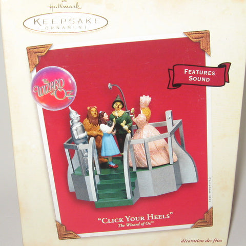 Hallmark Ornament Wizard of Oz Click Your Heels 2003