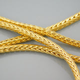 Medium Heavy Gold Square Wheat Chain Napier