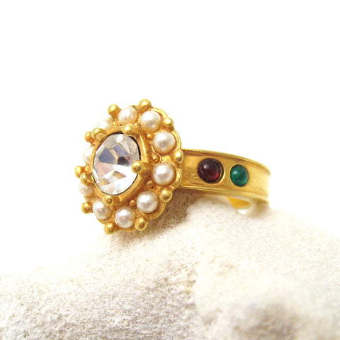Georgian Style Ring Rhinestone Jewelry
