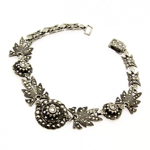 Art Deco Sterling Marcasite Bracelet Jewelry