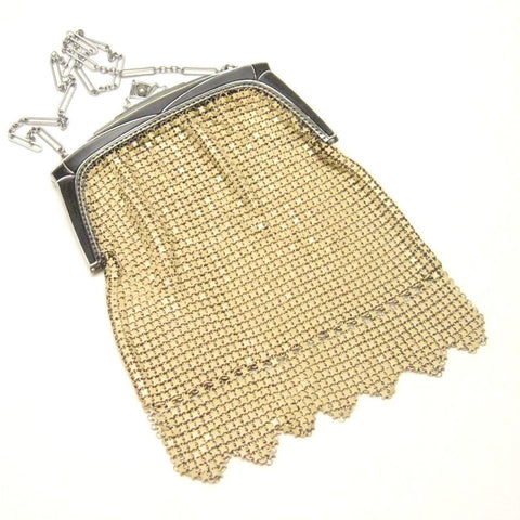 Yellow Antique  Art Deco Mesh Bag Roaring Twenties