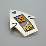 Sterling Dog and Cat House Brooch Far Fetched