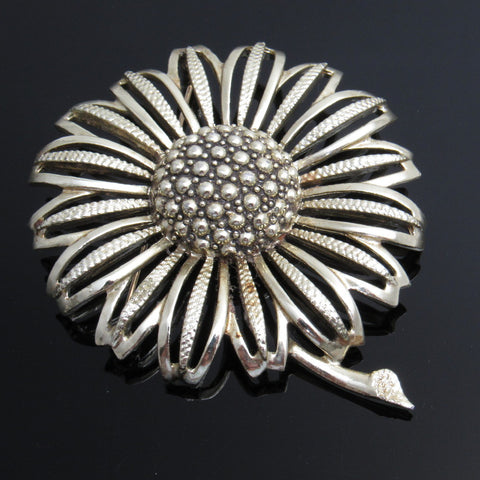 Large Flower Brooch Vintage Coventry Jewelry