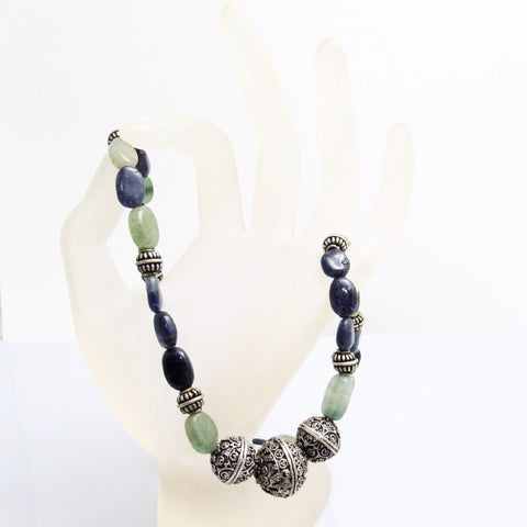 green beaded eco necklace pambil necklaces bead acai
