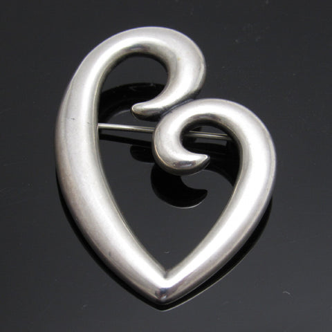 James Avery Sterling Heart Brooch A Mother's Love