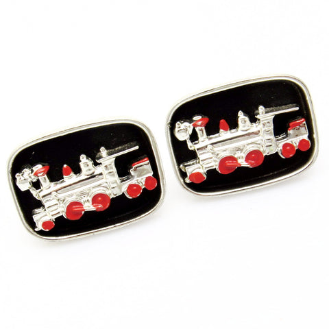 Large Vintage Train Cufflinks Steam Engine
