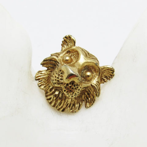Vintage Lion Tie Tack Lapel Pin Mens Jewelry
