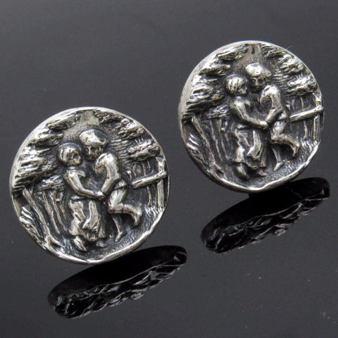 Vintage Cufflinks Courting Couple Men's Jewelry Accessories