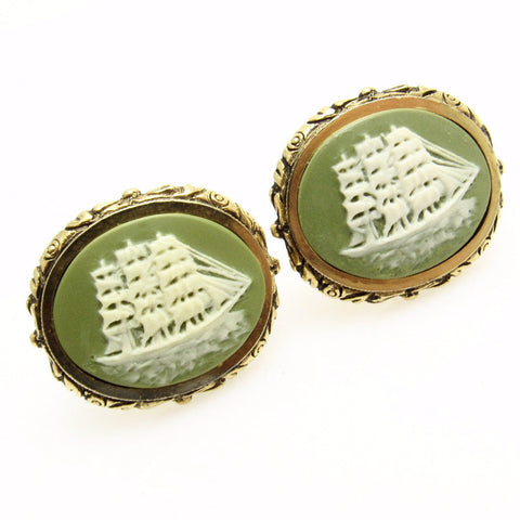 Clipper Ship Cufflinks Vintage Dante Museum Masterpiece Dante