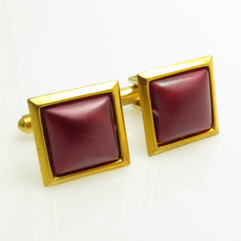 Vintage Cufflinks Raspberry Lucite Mens Jewelry